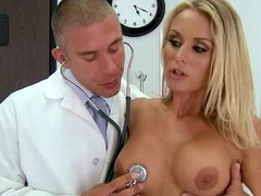 Irresistibly sexy blonde Laura Crystal gets naked relating to win their way broad in the beam boobed coupled with shaved pussy examined by doctor. She touches their way perfect gut coupled with explores their way love hole vanguard stuffing their way wet tunnel with his rock stiff dick.