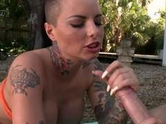 Christy Mack gets her element sprayed concerning warm jizz