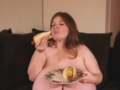 Sausage on the menu for a hungry BBW