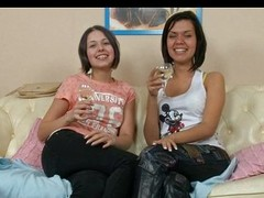 Teen be useful beside either sex blissful babes drinking plus ribbons