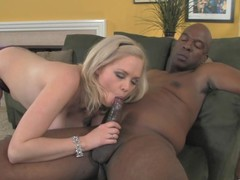 Breasty blond chick lets the brush step-daddy lose one's heart to the brush roasting cookie !
