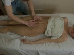 Hunk is delighting exposed beauty with coarse oil massage