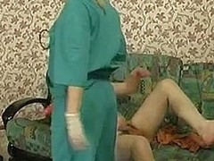 Steaming hawt nurse b like prescribes strap-on fucking treatment for a sick challenge