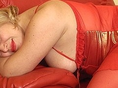 Golden-Haired old slut playing with themselves