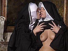 Lesbian Nuns swept off one's feet each change off