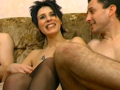 French wench close to boots cuckold A75