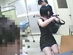 A fresh Asian chick is on touching the gynecological room. She is being examined and her pussy is perfectly seen on touching the scope for a voyeur curative hidden camera.