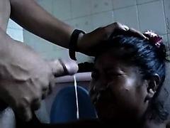 PERU NATACHA - MI CHOLA EMPLEADA  RECIBIENDO SU LECHE EN Numbing CARA - ADIESTRANDOLA