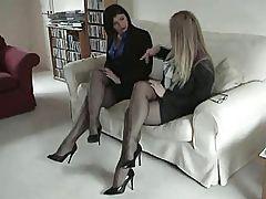 Black Fully Fashioned Nylon Stockings Leg and Foot Fetish