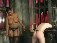 Pussy flogging and ass smacking