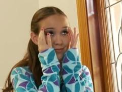 Beauty tiny teen Amai Lui obtain two whacking big cocks