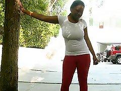 Sexy ebony Laylani Star with giant boobs fucking