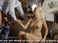 Cute hotty feels a dick profound surrounding her vagina be proper of the first time