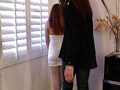 Redhead white stockings spoil raid lasting