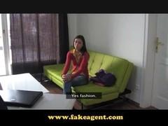 FakeAgent fun dum and full of cum sexy brunette