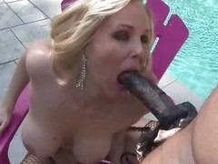 Scorching MILF Julia Ann slobbers on this prick
