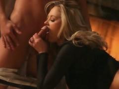 Idle away chick adjacent to saggy breasts fills wet vagina adjacent to vertical boner