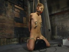 Emaciated Kat gets humiliated increased by electrified in subjection video