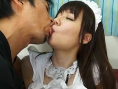 Yurika Miyaji is fucked hard dressed as a maid