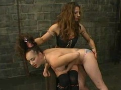 Long-haired hottie gets tormented and fucked on touching terrific BDSM chapter
