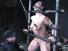 Satine Phoenix gets will not hear of vag smashed by a making out machine more BDSM vid