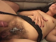 Kinky Bexxxy takes obese cock in will not hear of remarkably hairy pussy