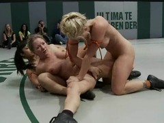 Four delicious and smoking hot babes are in a hardcore fight