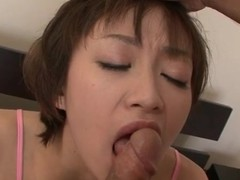 Polka dot lingerie in the first place fucked Japanese girl