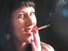 Brunette babe is sexy involving smoking porn