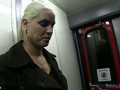 SEX ON A TRAIN - thats right...I managed more get this blue blond more engulf my dick and essay Powerful SEX on a train.