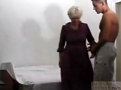 Grandma gets deep fucked by a young cock