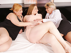 Team a few chubby whore is having wild and filthy sex with these both ladies
