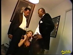 Abby likes to get fucked by two large black dicks